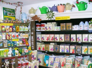 We carry a large selection of organic fertilizers and pest controls