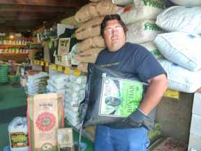 Eric loading fertilizers and dry goods