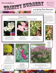2014 spring plant showcase flyer, pg 1
